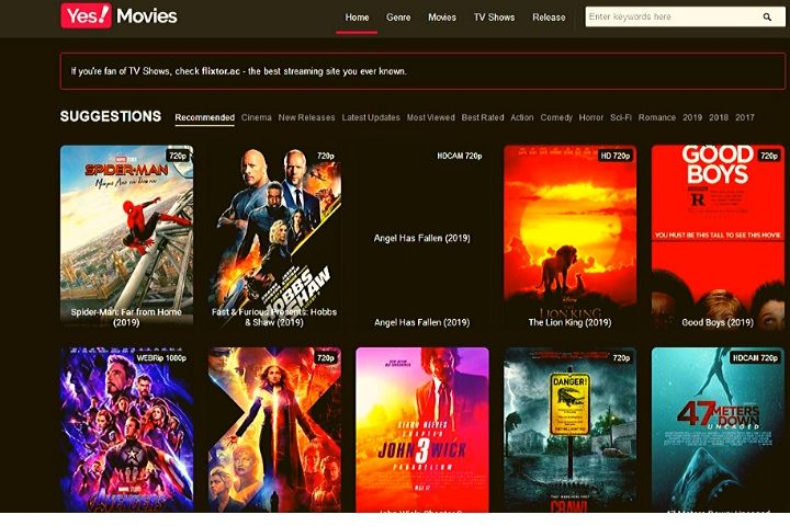 Yesmovies | Best Alternatives And Similar Sites Like Yes Movies